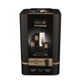 Axe Signature Quattro lata(edt 100 ml+deo spray 150 ml+cera capilar+máquina)