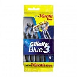 Gillette Blue III Maquinilla de Afeitar 4 + 1 Uds.