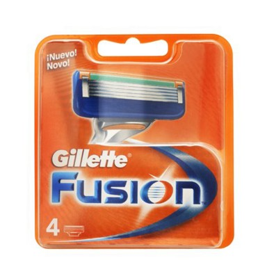 Gillette Fusion Recambios 4 Uds.