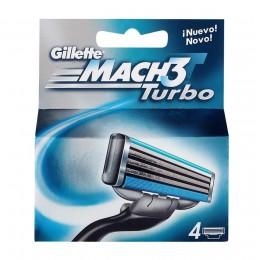 Gillette Mach 3 Turbo 4 Uds.