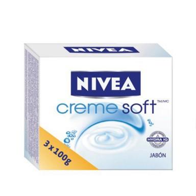 Nivea Jabón Creme Soft 3 x 100 gr.