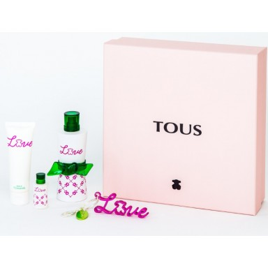 tous love edt 90 ml + neceser