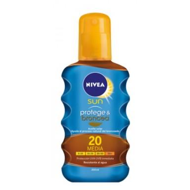 Nivea 200 ml aceite protege & broncea F20