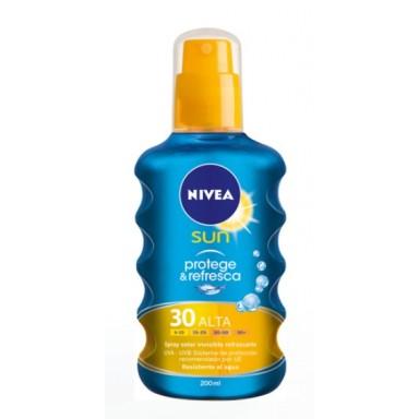 nivea sun invisible f30 200 ml. spray