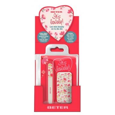Beter It's Lovely pack (lima vidrio templado y pulidor de uñas)