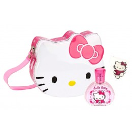 HELLO KITTY EDT 50 ML + BOLSO METALICO + TATOO