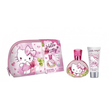 HELLO KITTY EDT 50 ML SPRAY + BODY 100 ML + NECESER