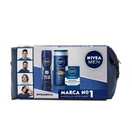 Nivea Men neceser original (bálsamo + gel ducha + desodorante spray)
