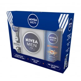 Nivea Men pack creme(crema + gel ducha 250 ml + desodorante invisible B&W spray)