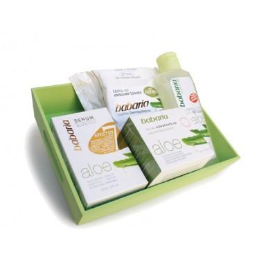 Babaria Aloe caja regalo (serum 7 efect+crema hidrat.24H+toallitas+desmaq.ojos)