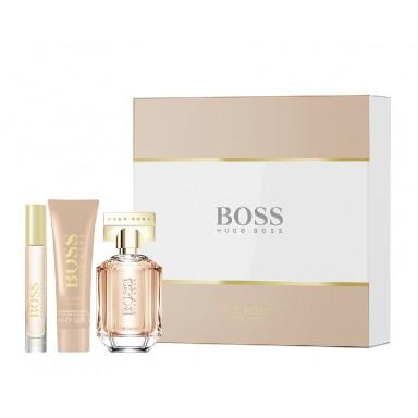 Boss The Scent her edp 50ml vapo + body lotion 50 ml + miniatura spray 7 ml