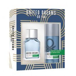 Benetton United Dreams Go Far men edt 100 vapo + deo 150 ml