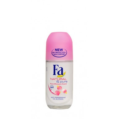 Fa Natural & Pure Flor Rosa Desodorante Roll-On 50 ml.