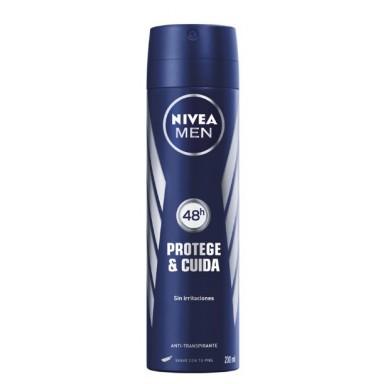 nivea deo spray men 200 ml. protege y cuida