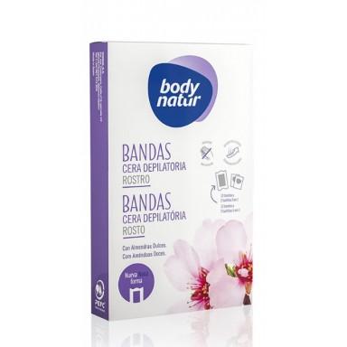 Body Natur Bandas Cera facial 12 uds.