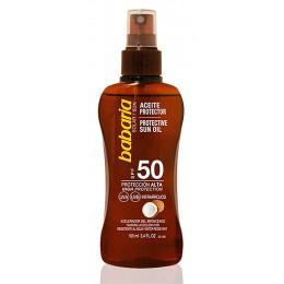 Babaria bronceador 100 ml aceite de coco spray F-50
