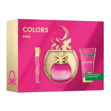 Benetton Colors Pink edt 50 Vapo + Body Lotion + Mini
