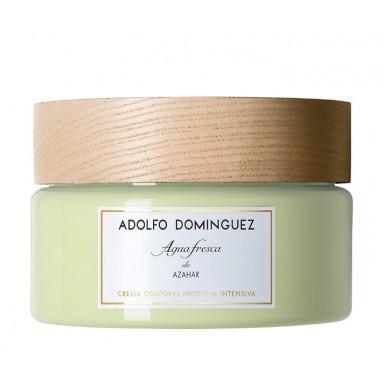 Agua Fresca de Azahar Adolfo Dominguez crema nutritiva 300 ml. tarro