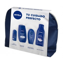 Nivea neceser cuidado body milk 400ml+deo rollon 50ml+gel 250ml+crema manos 100m