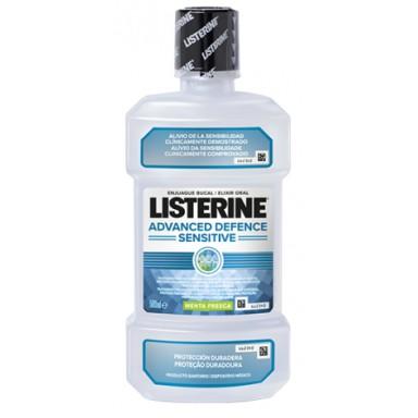 Listerine Advanced Defense Sensitive 500 ml Menta Fresca