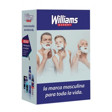 williams pack Aqua Velva loción 200 ml+espuma afeitar 200ml+deo spray 200+toalla