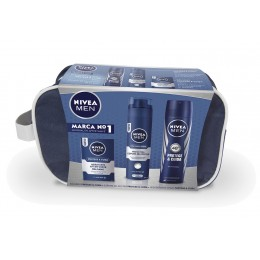 Nivea Men desodorante protege y cuida spray 200ml+espuma afeitar 200ml+balsamo