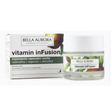 Bella Aurora Vitamin Infusion tratamiento reparador noche 50 ml
