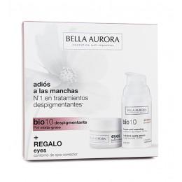 Bella Aurora Bio 10 fluido antimanchas 30 ml +  contorno de ojos corrector 15 ml