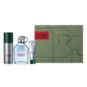 Hugo edt 125 vapo + gel 50 ml + desodorante spray 150 ml