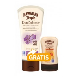 Hawaiian Tropic Duo Defense F-50 180 ml + mini locion