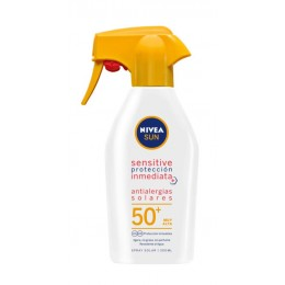 Nivea bronceador sensitive antialergia solar F50+ pistola 300 ml