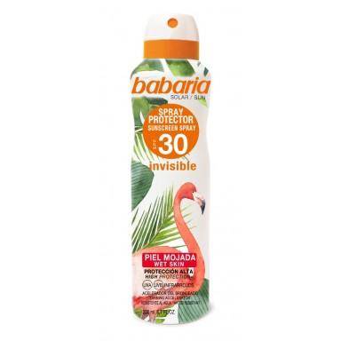 Babaria bronceador 200 ml spray tropical piel mojada F-30