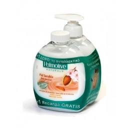 palmolive jabon leche & almendras 300 ml. c/dosificador + recambio