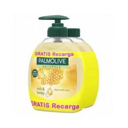 Palmolive Jabón leche y miel 300 ml. dosificador + recambio
