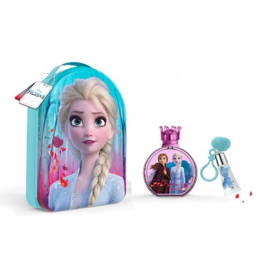 Frozen II edt 100 ml + brillo labios + neceser