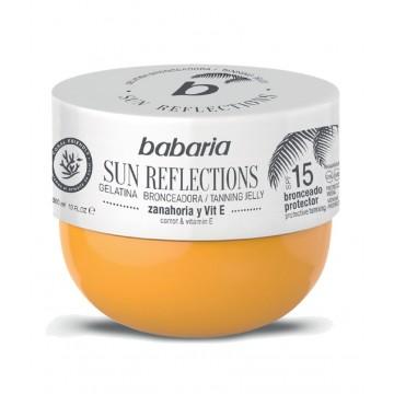 babaria solar gelatina sun reflections zanahoria y vitamina E spf-15 300 ml.