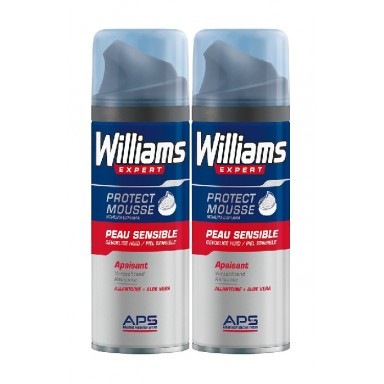 Williams espuam afeitado piel sensible 2x200ml