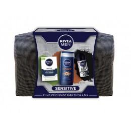 Nivea Men desodorante rollon 50 ml+gel ducha Sport 250 ml+bálsamo sensitive 100