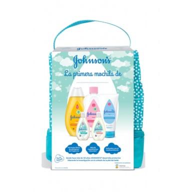 Johnson's Mochila Tesoro Verde Champú 300ml+Aceite 300ml+Crema 100ml+Gel 50ml+lo