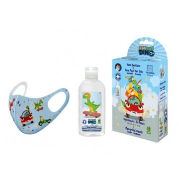 Eau my dino pack gel higienizante 100ml + mascarilla decorada unicornios