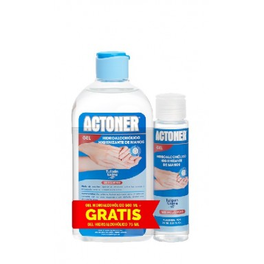 Actoner pack gel higienizante 500 ml + mini