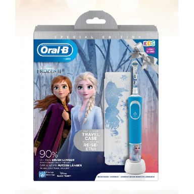 oral-b vitality cepillo electrico pack kids(cepillo Frozen + funda viaje Frozen)