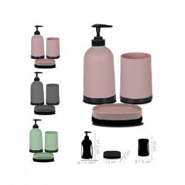 Accesorios de baño 3 piezas (jabonera-dosificador-vaso)