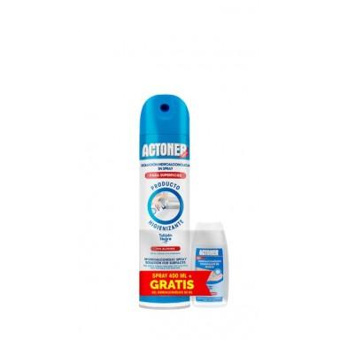 Actoner pack (spray higienizante 400 ml superficies + gel higienizante 50 ml)