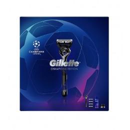 Gillette pack Proshield Maquinilla + 4 recambios + gel + soporte