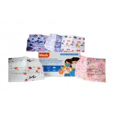 Mascarilla Higienica Infantil 10 Uds. decorada
