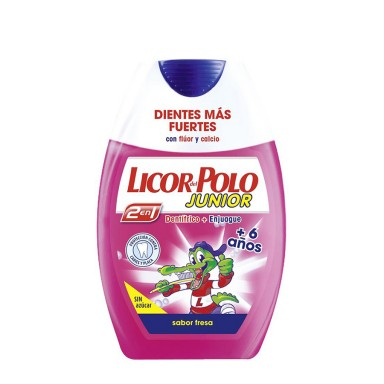 Licor del Polo Junior 2 en 1 Fresa +6 Años 75 ml.